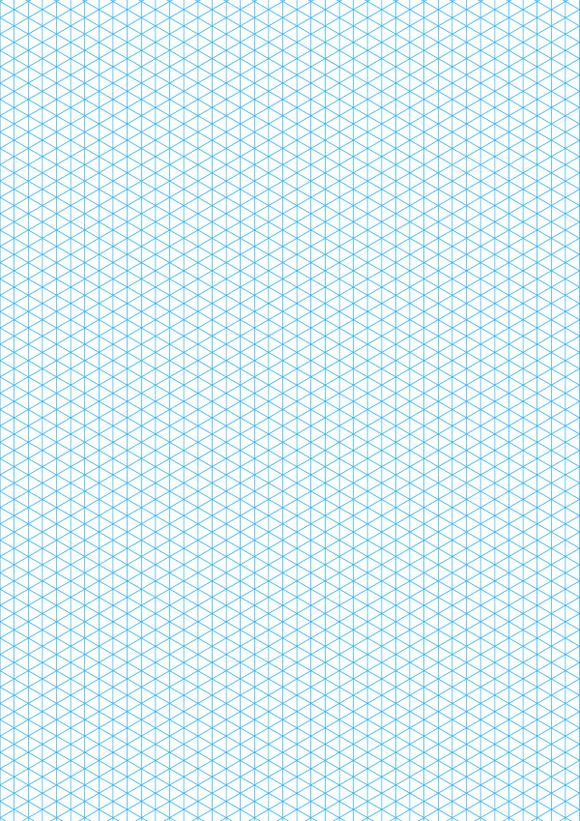 Cyan isometric grid on a4 sheet @creativework247 | Graphic ...