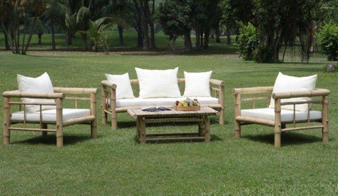 Image result for fabriquer un salon de jardin en bambou | bambou ...