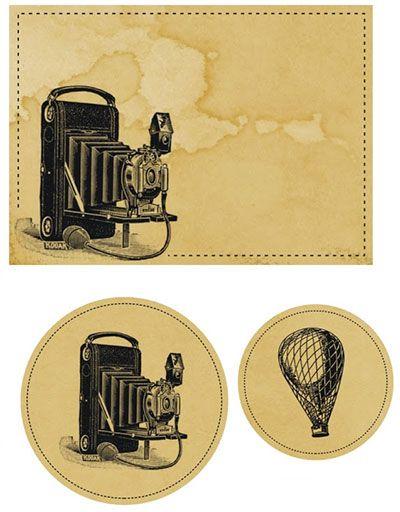 Imprimibles vintage para tarjetas y regalos