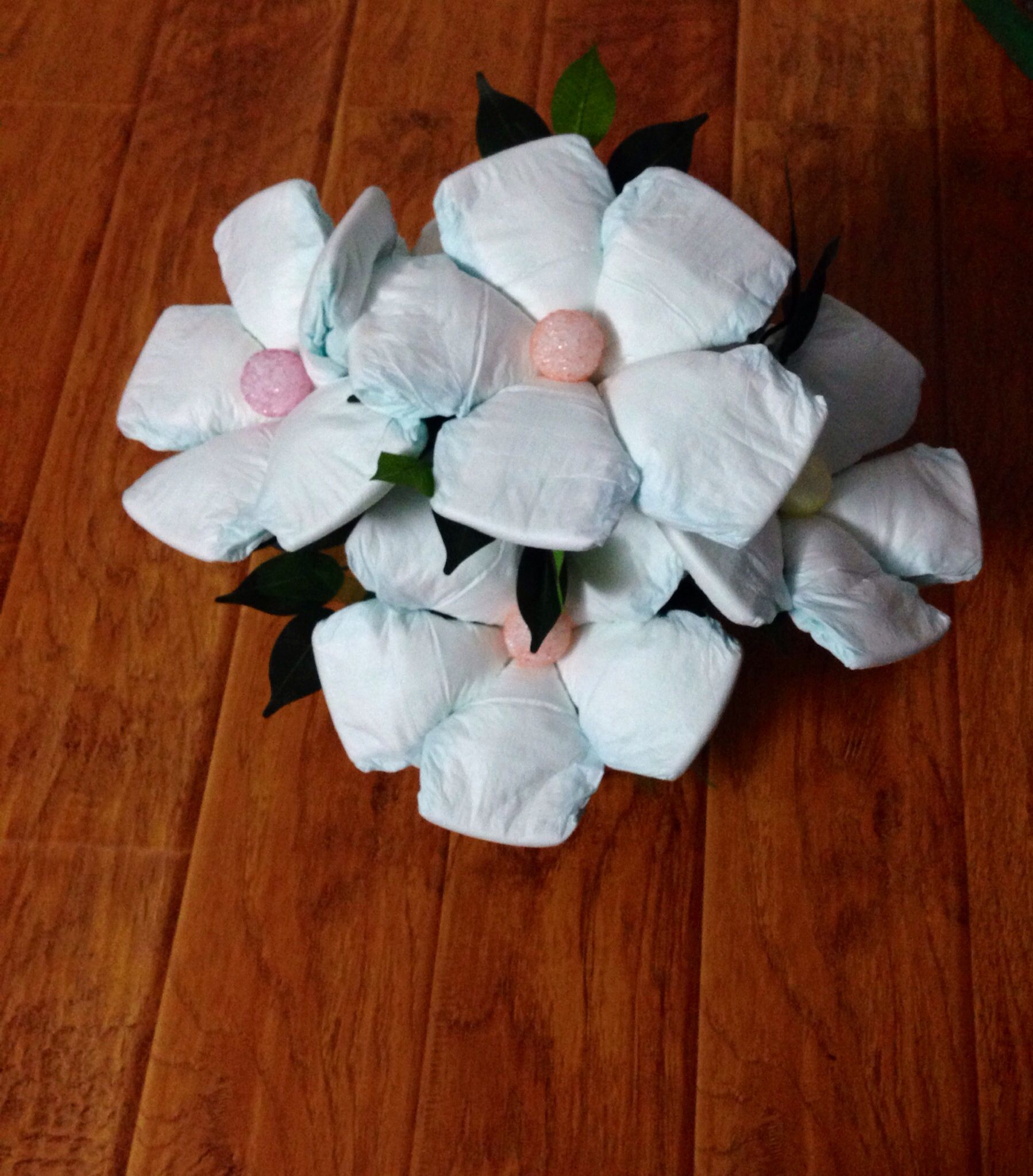 Diaper bouquet - with diaper flowers! | Baby Bouquet ... - photo#15