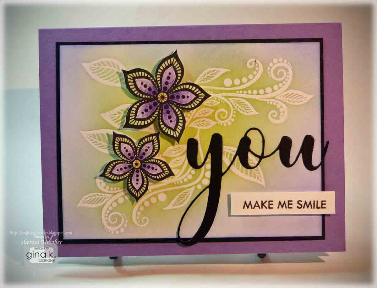 Card Making Ideas Gina K Part - 21: Theresa Momber: Gina K. Designs Boho Flowers Mini Kit And You Die. Design  CardsCard ...