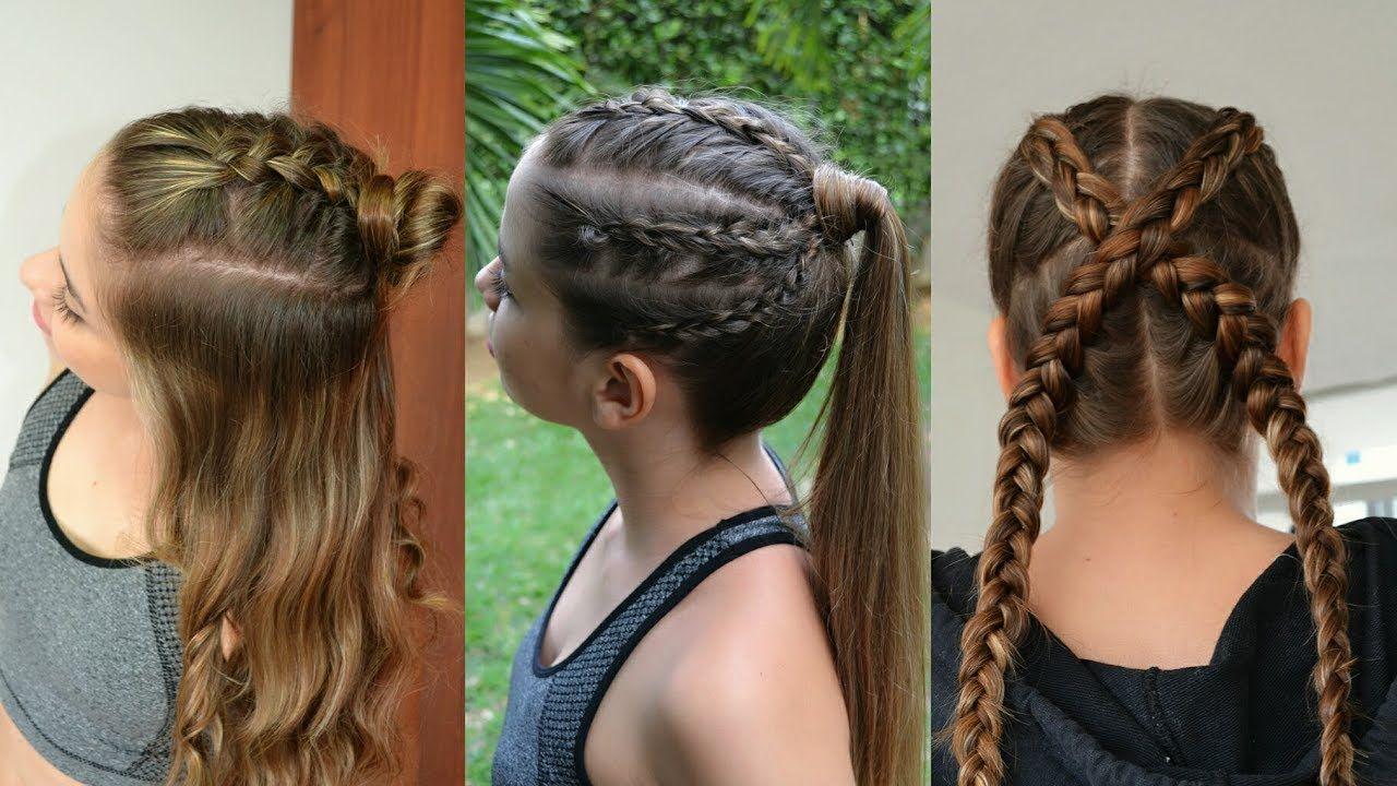 Resultado De Imagen De Trenzas Sporty Hairstyles Hair Styles Kids Hairstyles
