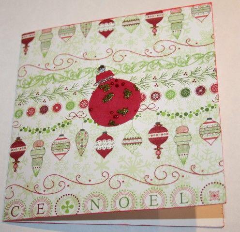 10 Steps to Making a Handmade 6 x 6 Christmas Card including