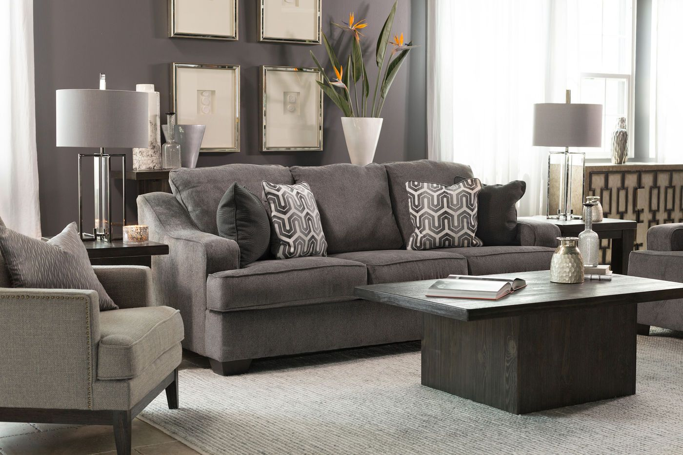 Ashley Gilmer Gunmetal Sofa Small Living Rooms Furniture