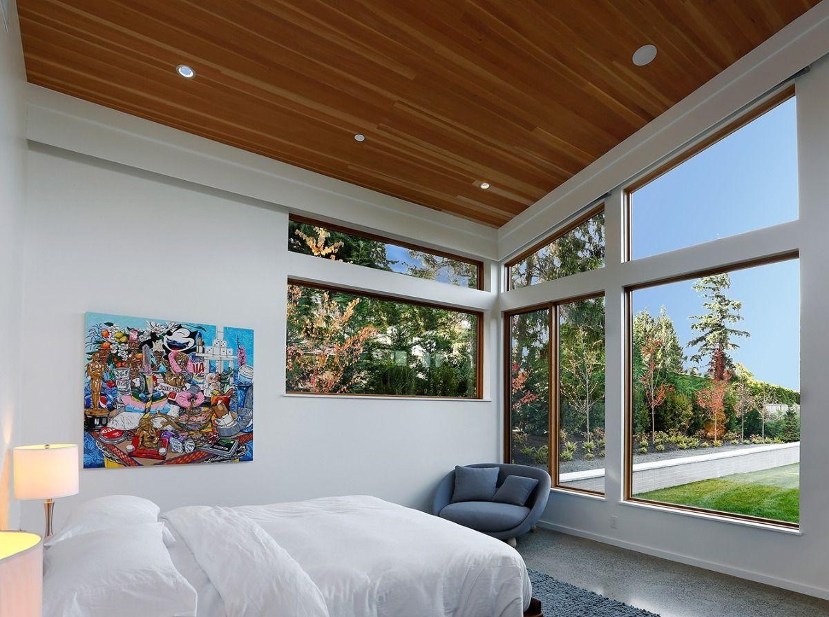 Clear Vertical Grain In Aquafir Seattle Homes Home Building Design Modern House Plans