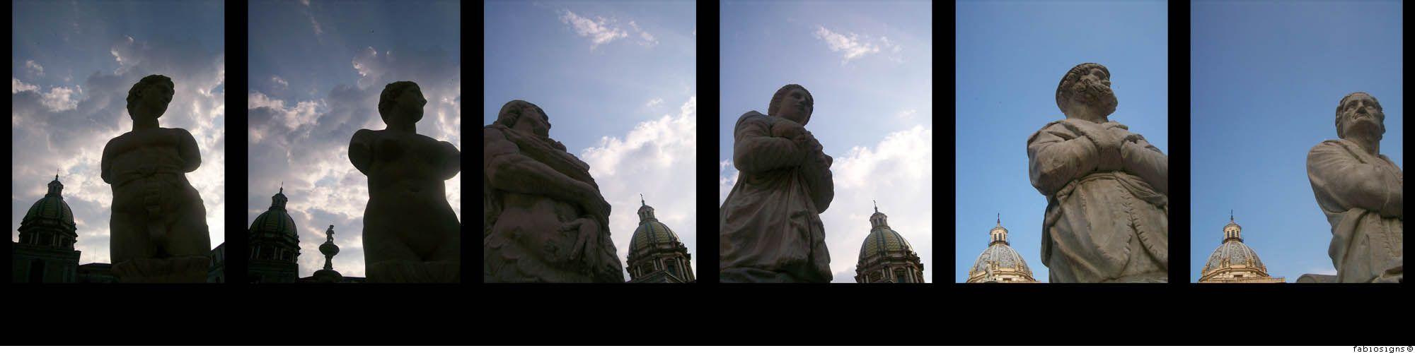 Palermo, le statue di Piazza Pretoria - © fabiosigns
