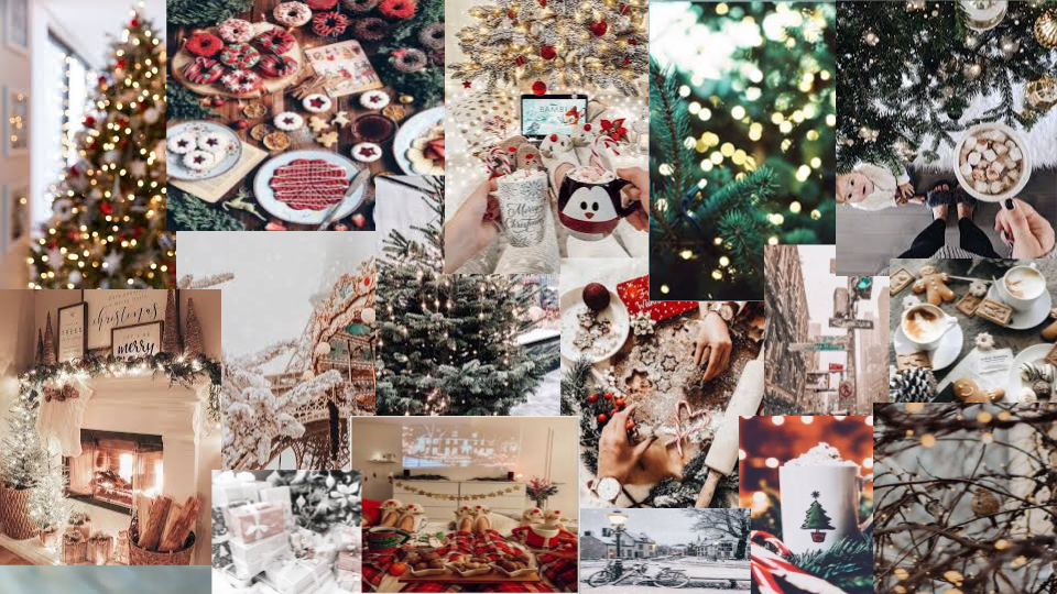 Christmas Collage Christmas Collage Holiday Decor Mac Wallpaper
