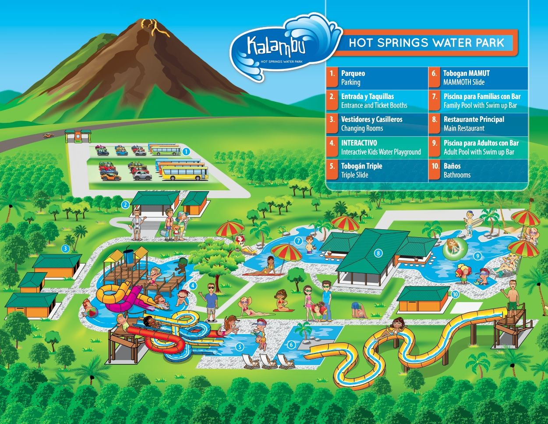 Kalambu Map  Mapa Kalambu Nosotros  About Us Pinterest - Map of us water parks