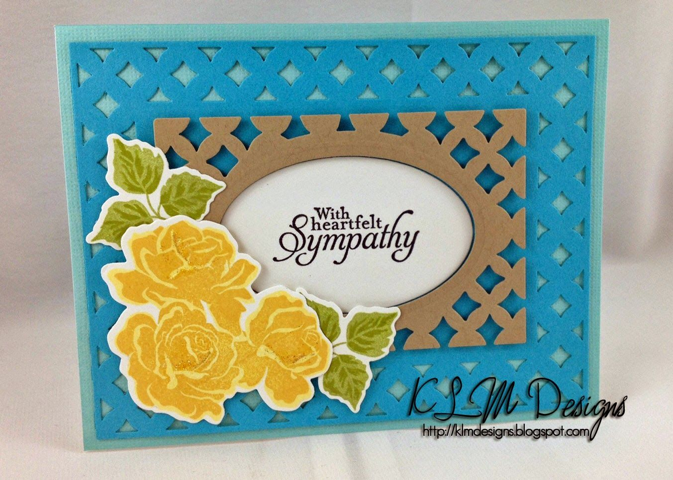 KLM Designs: Rose Sympathy Card