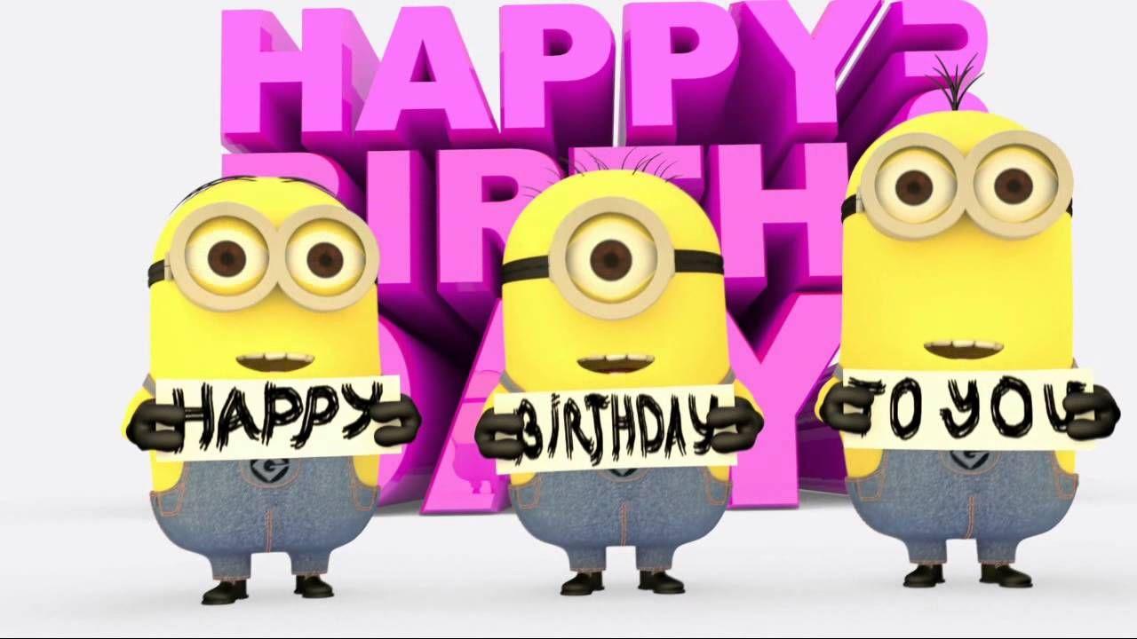 Minions Happy Birthday song Happy birthday minions