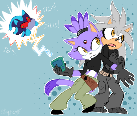 .: What's the Sitch? :. by stingybee.deviantart.com on @deviantART Blaze & Silver as Kim and Ron :3