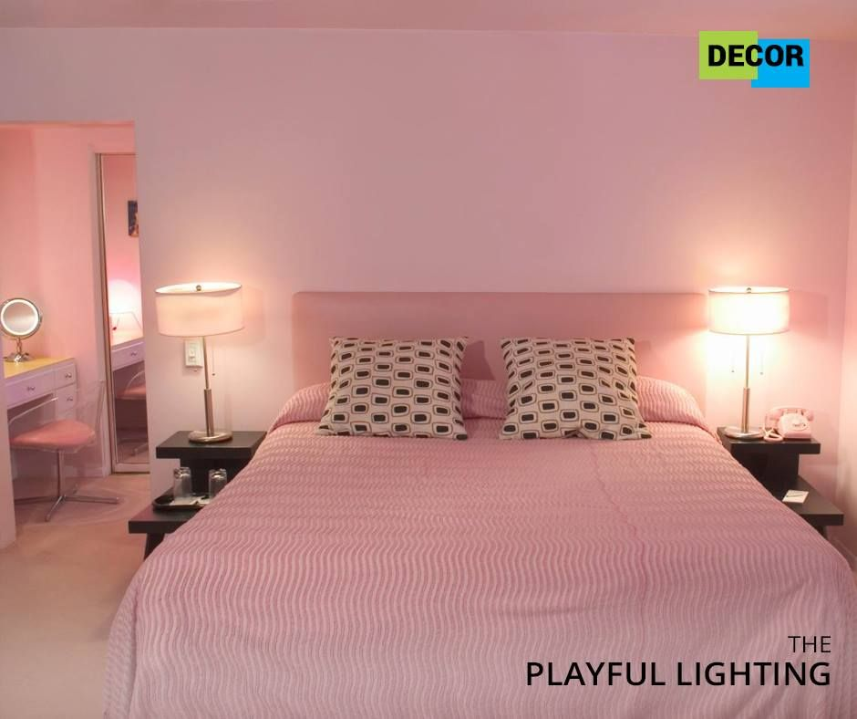Try using different shades of lights for the bedroom ...