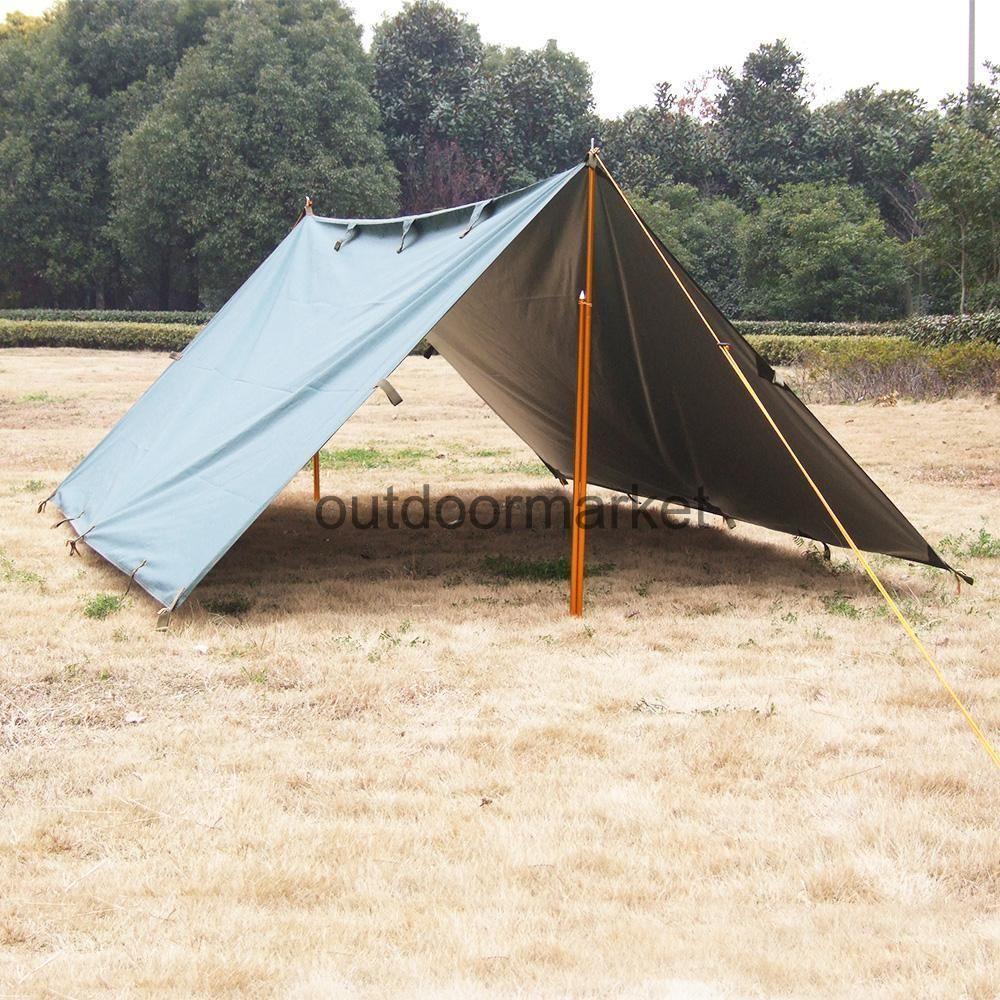 Waterproof Camping Tent Tarp Awning Canopy Bivvy Sun Shade ...
