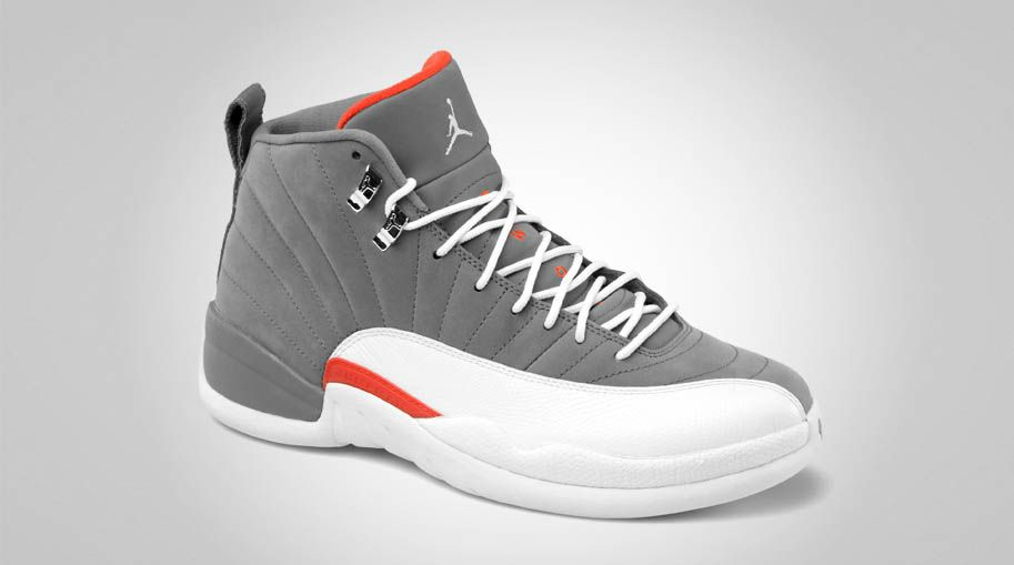 new concept 09d20 287cf Air Jordan Retro 12 - Cool Grey White-Team Orange. The grey is soft Nubuck.