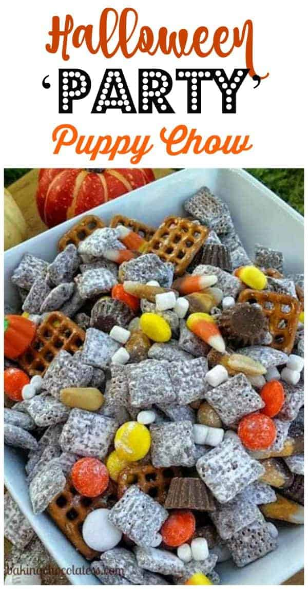 Halloween Party Puppy Chow Recipe Chex Mix Recipes Chex Mix Puppy Chow