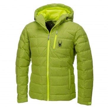 Spyder, Impulse Down ski-jas heren, Theory groen - Bryte geel