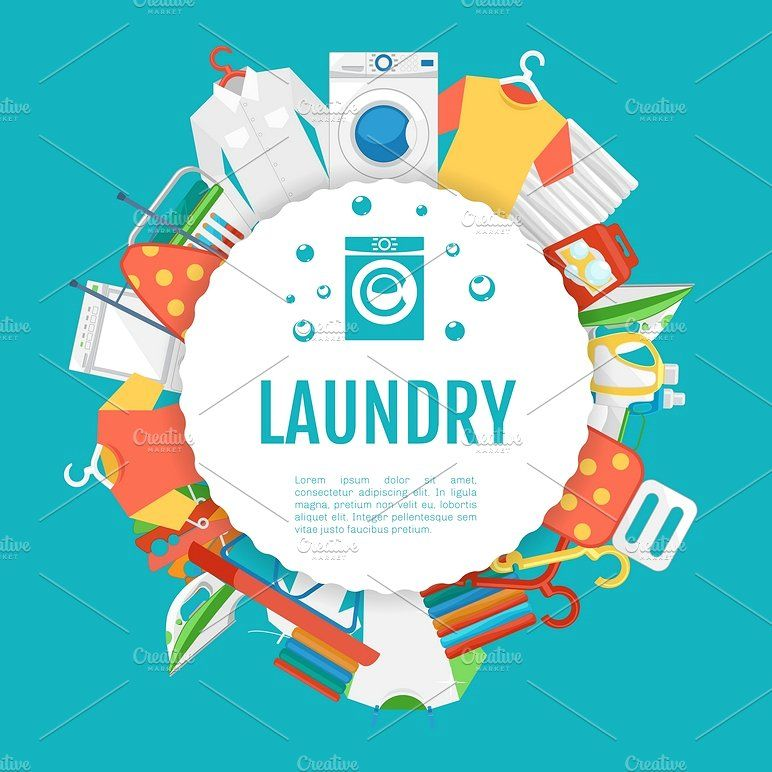 Laundry Service Poster Design By Microvector On Creativemarket
