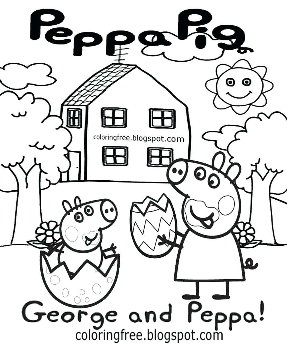 Peppa Pig Coloring Sheets Inspirational Peppa Pig And Friends Coloring Pages Axionsheet Peppa Pig Coloring Pages Peppa Pig Colouring Easter Egg Pictures