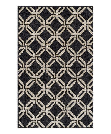 Take a look at this Black Lattice Marcello Rug by Dalyn on #zulily today!