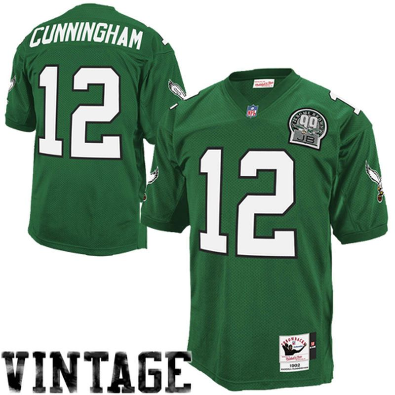a089f911aee ... Randall Cunningham Philadelphia Eagles Mitchell Ness Authentic Throwback  Jersey – Green ...