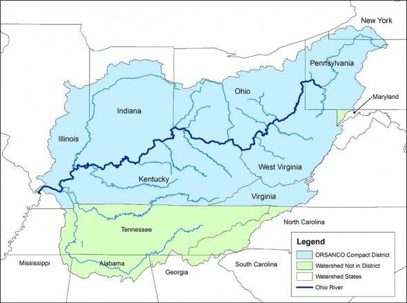 A map of the Ohio River Valley | American History