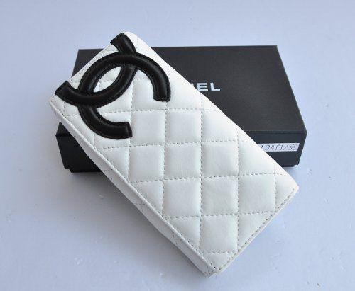 c0f780ca2af757 BESTSELLER! New Designer Inspired White Quilted D... $39.89 Chanel Wallet,  Chanel