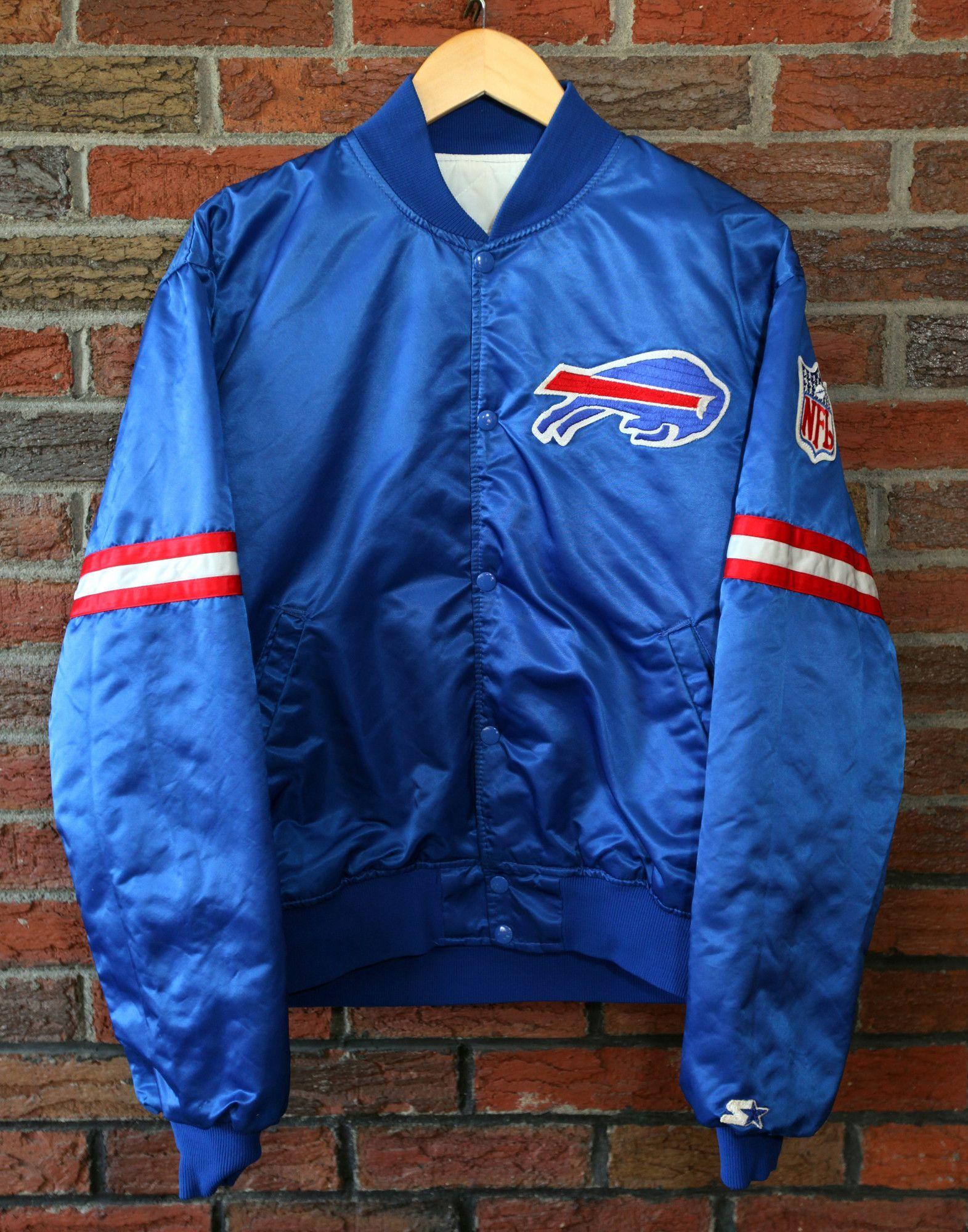e3b773f8 Vintage 90's Buffalo Bills Starter Pro Line Satin Jacket SZ L ...