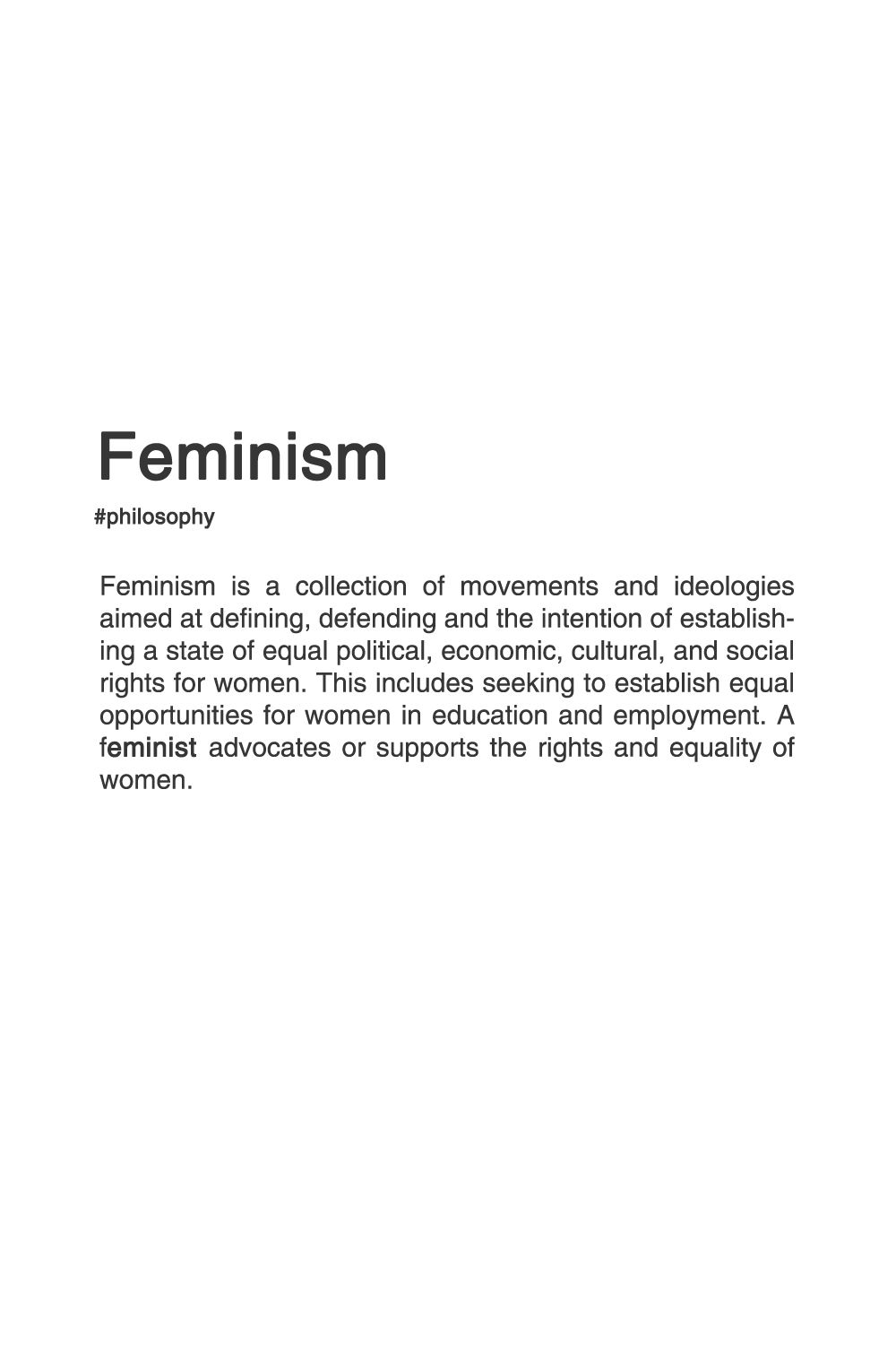 rape culture oriented feminism sociology essay He wrote that men and women experience rape culture in exactly the same way, and claimed talking about gender inequality was just an effort to make men look bad he said that women brought these things upon themselves by making people, and specifically men, angry and annoyed via conversations about feminism and rape culture.