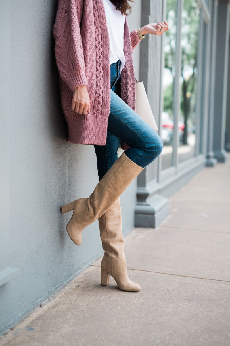 b4434cf07 the miller affect wearing SAM EDELMAN CAPRICE KNEE-HIGH BOOTs from N Sale