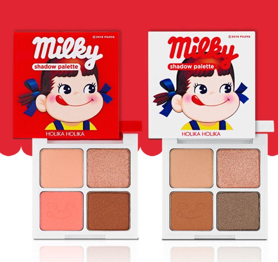 Holika New Special Edition Milky Peko Eye Shadow 4 Color 5 Pure Essence Mask Sheet Pearl Palette Holikaholika