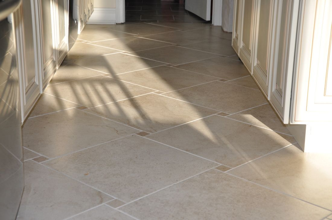 Large Square Porcelain Tile In Hopscotch Pattern With The Small