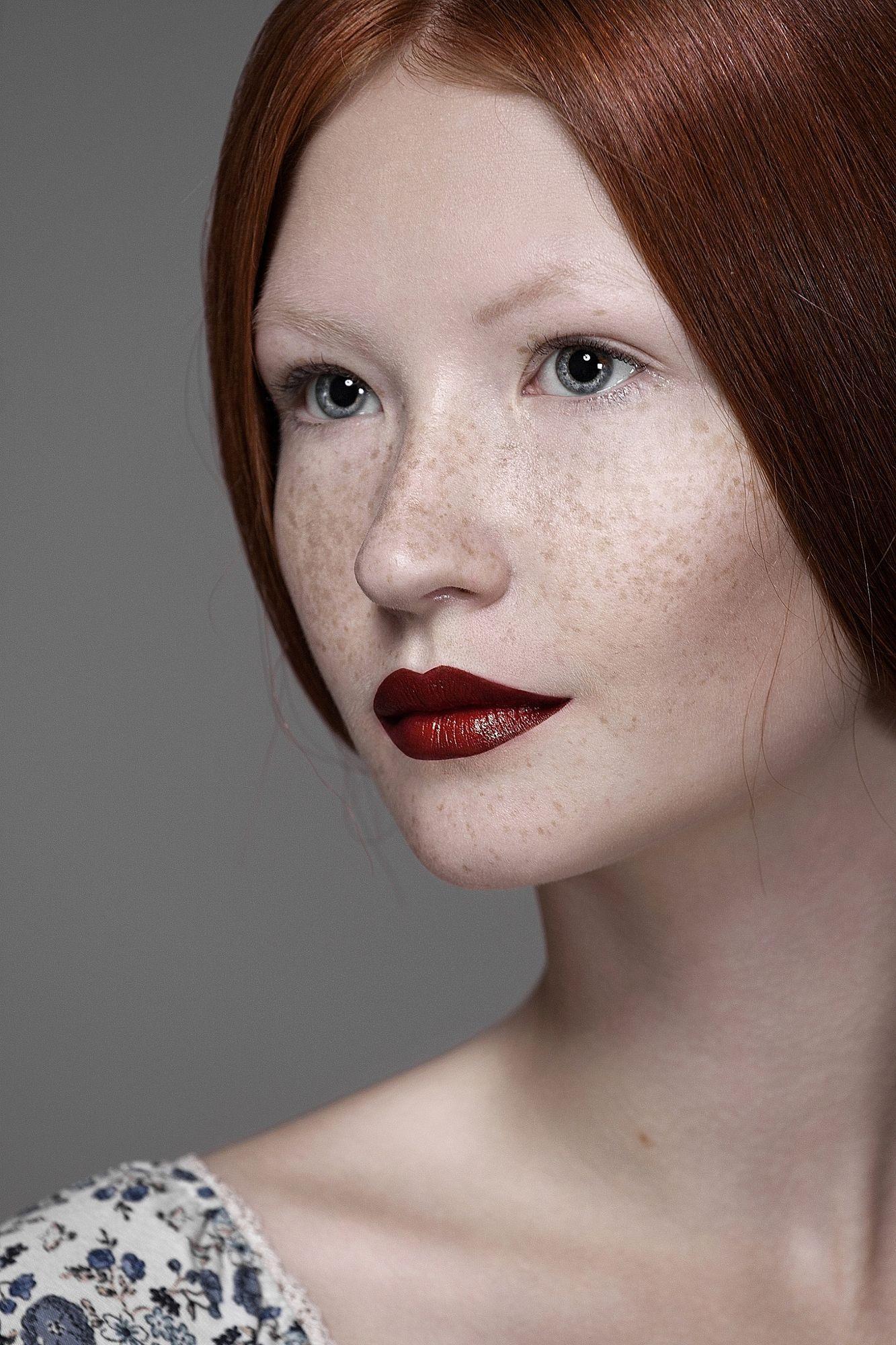 Red by Anastasia Galaktionova Redhead makeup, Beautiful