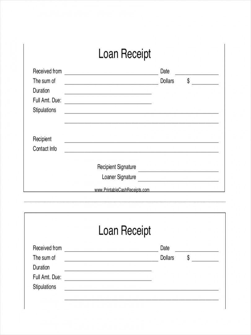 Browse Our Example Of Personal Loan Payment Receipt Template Personal Loans Receipt Template Loan