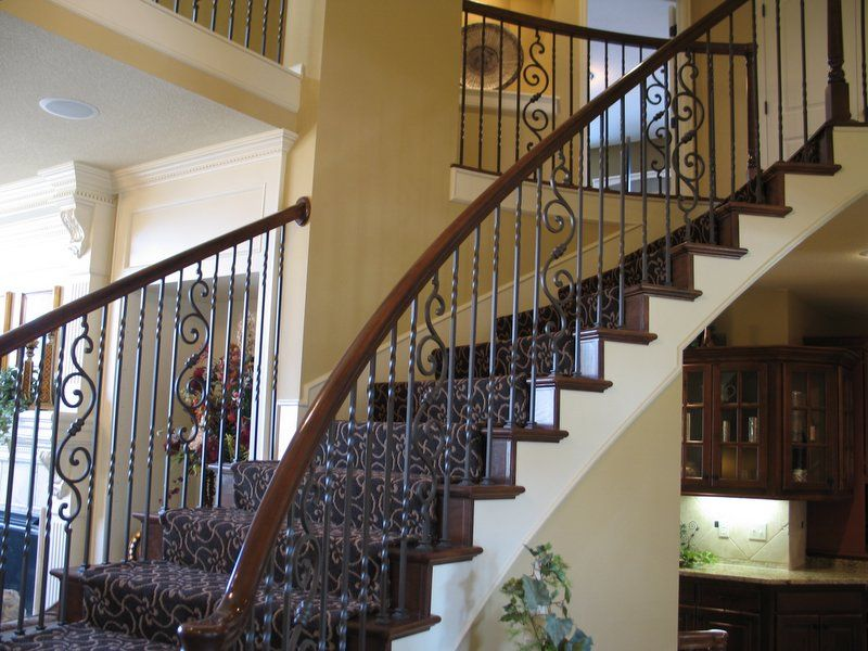 Best Adjustable Wrought Iron Spindles Stairs Design Stair 400 x 300