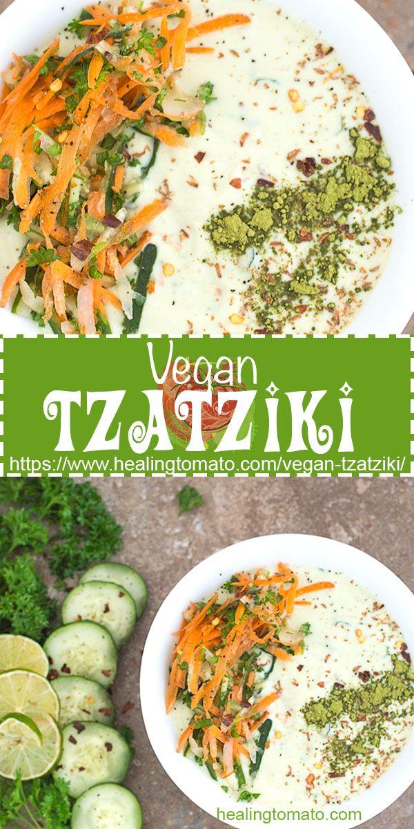 Vegan Tzatziki With Matcha