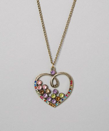 Loving this Red & Pink Heart Necklace on #zulily! #zulilyfinds