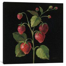 'French Fruit Series: Fraise' Painting Print on Canvas