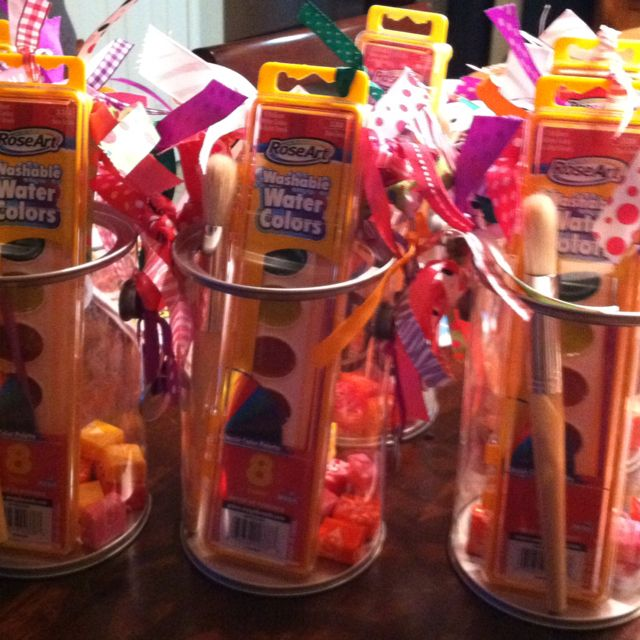 Party favor paint buckets - create - childrens museum