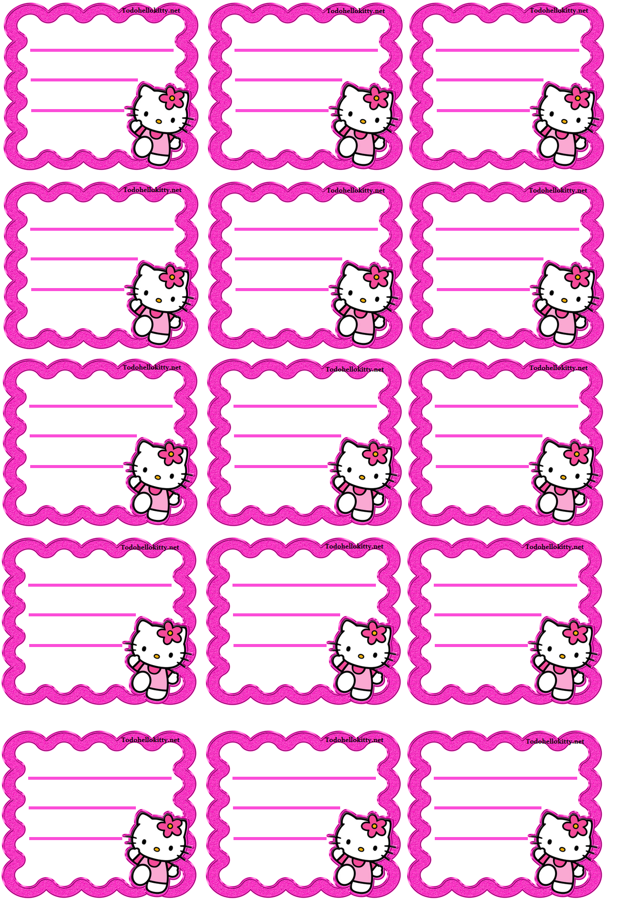 Etiquetas Kitty Hello Kitty Clipart Borders For Paper Page Borders Design