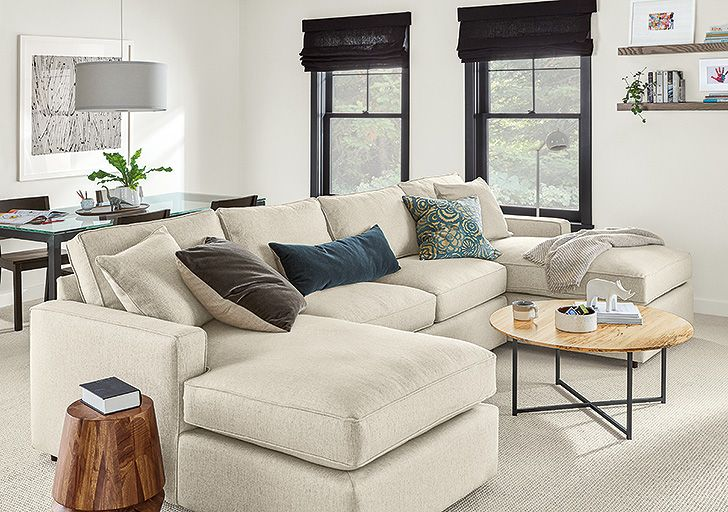 Double chaise sectional design ideas for living rooms