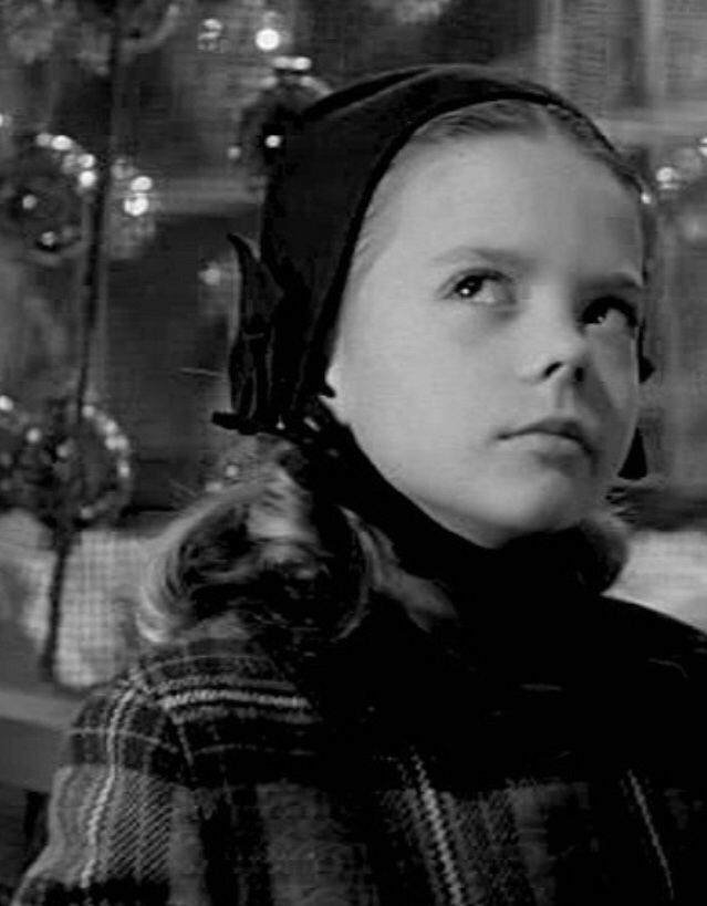 "Sweet precocious little Natalie in ""Miracle on 34th Street"" 1945."