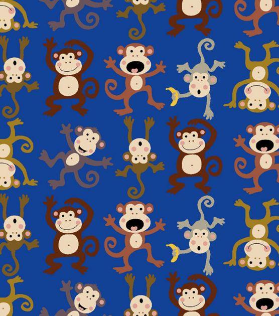 Anti Pill Fleece Print-Monkey Around, , hi-res