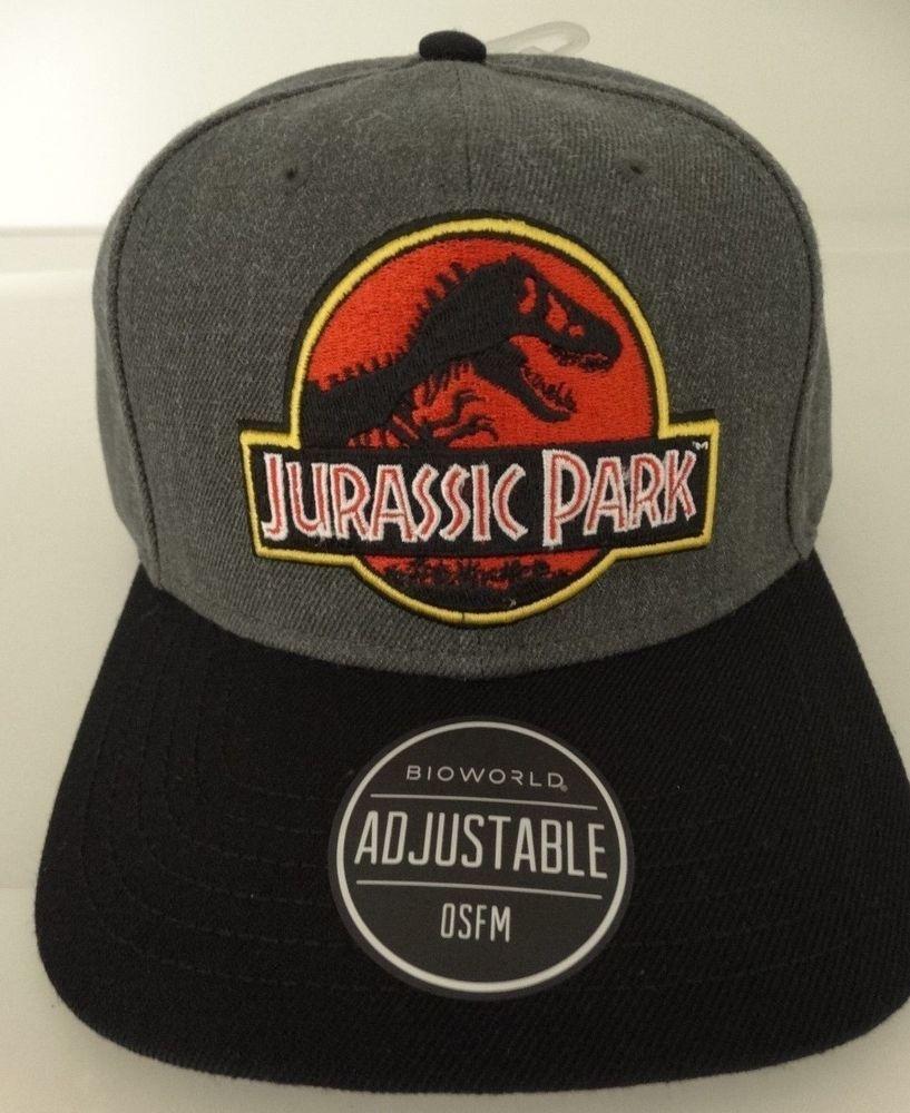 c3a8d4119a8 Jurassic Park Movie Logo Snap Back Curved Bill Hat Nwt  JurassicPark   BaseballCap
