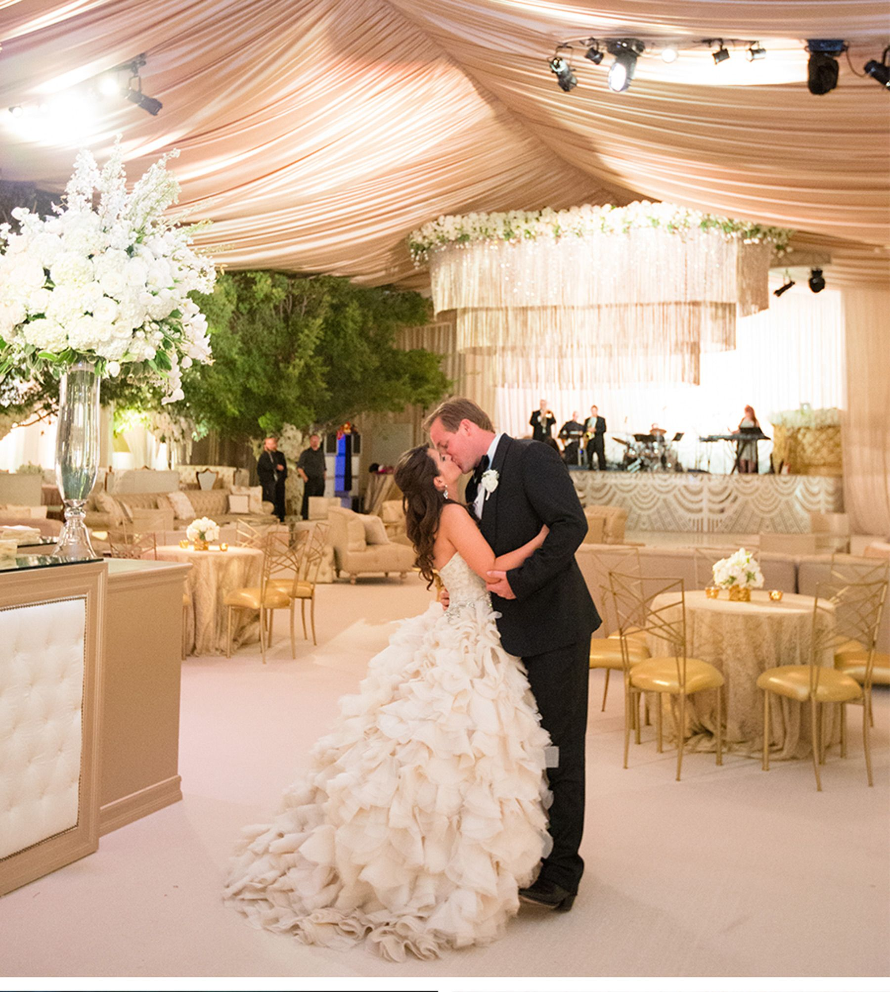 Our muse glamorous wedding in texas cameron and winston