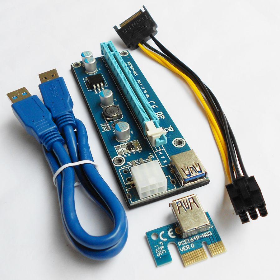 Fast Free Shipping 100PCS/Lot PCI-E Riser Card 60CM USB 3.0 Cable ...