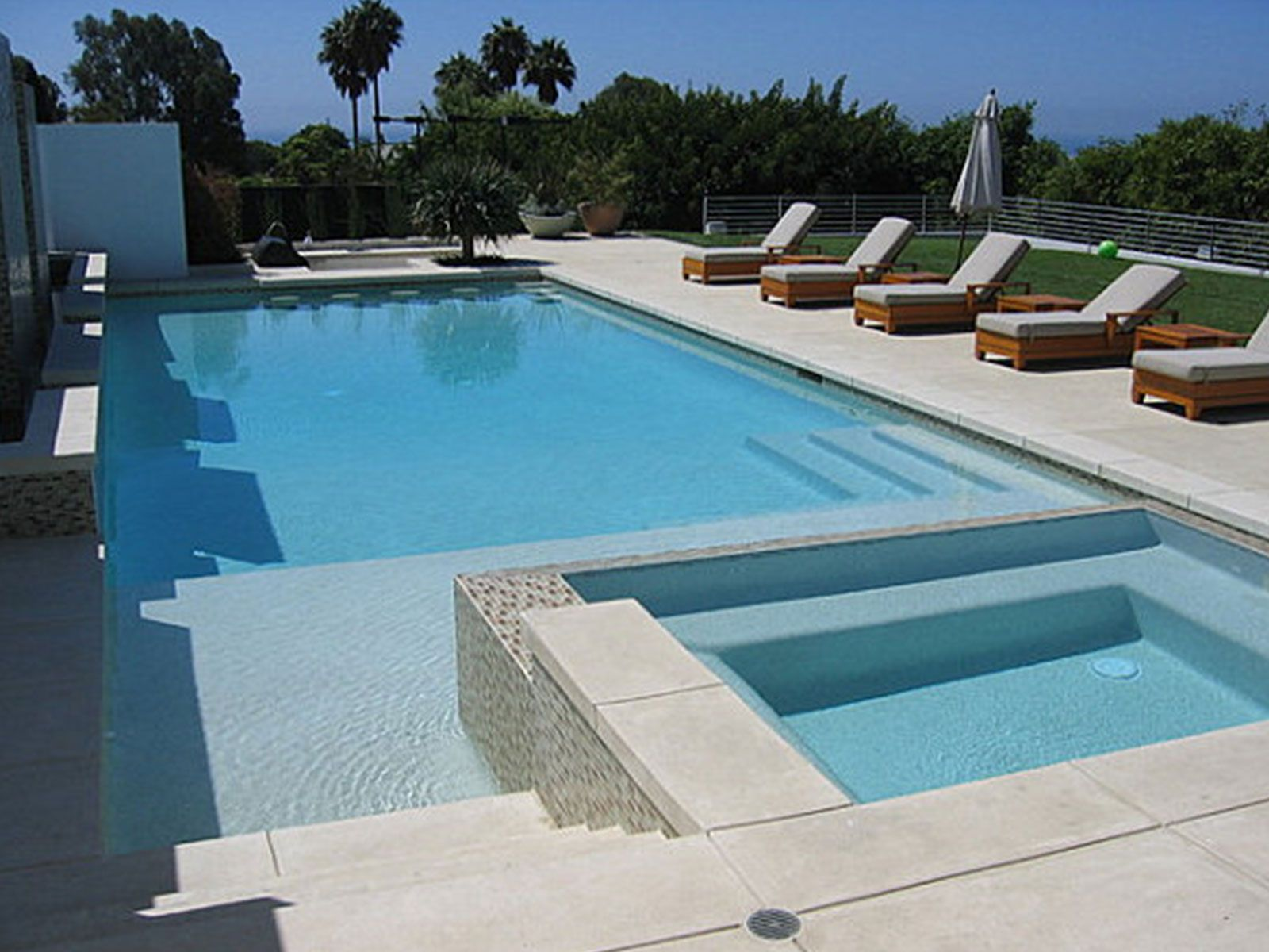 Simple swimming pool design image modern creative swimming for Pool design with hot tub