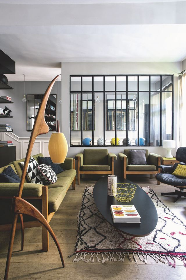 Maison moderne à Paris 10e  déco design et authentique Salons - Photos De Maison Moderne