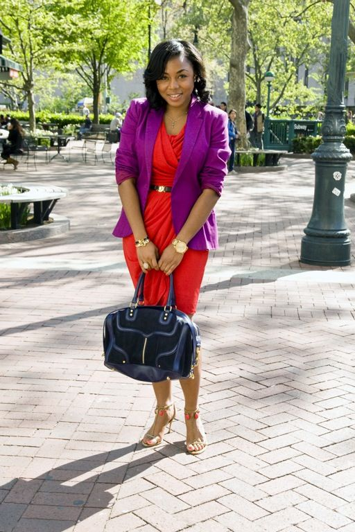 purple and red outfit