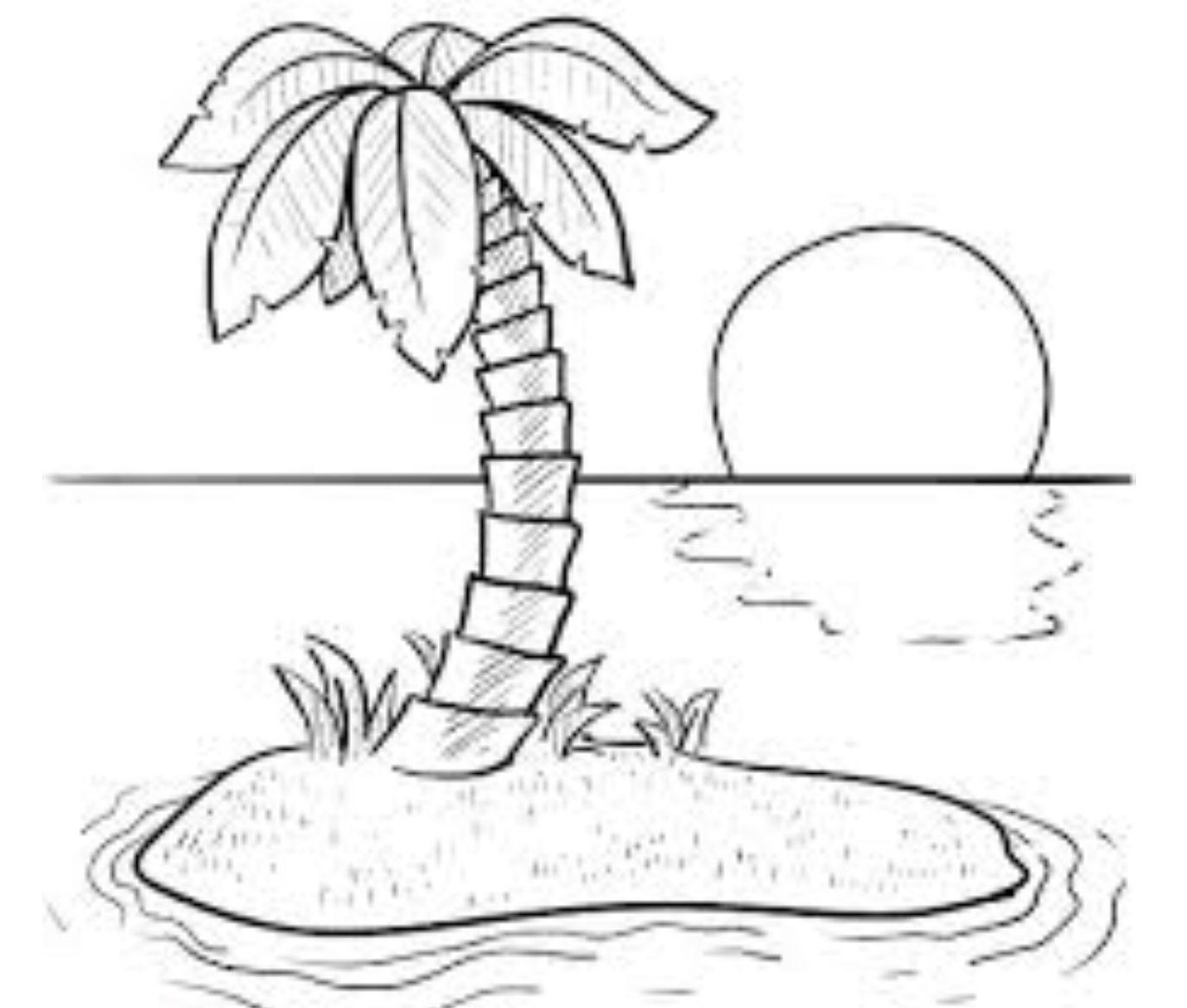 1387 malvorlagen palmen strand  coloring and malvorlagan