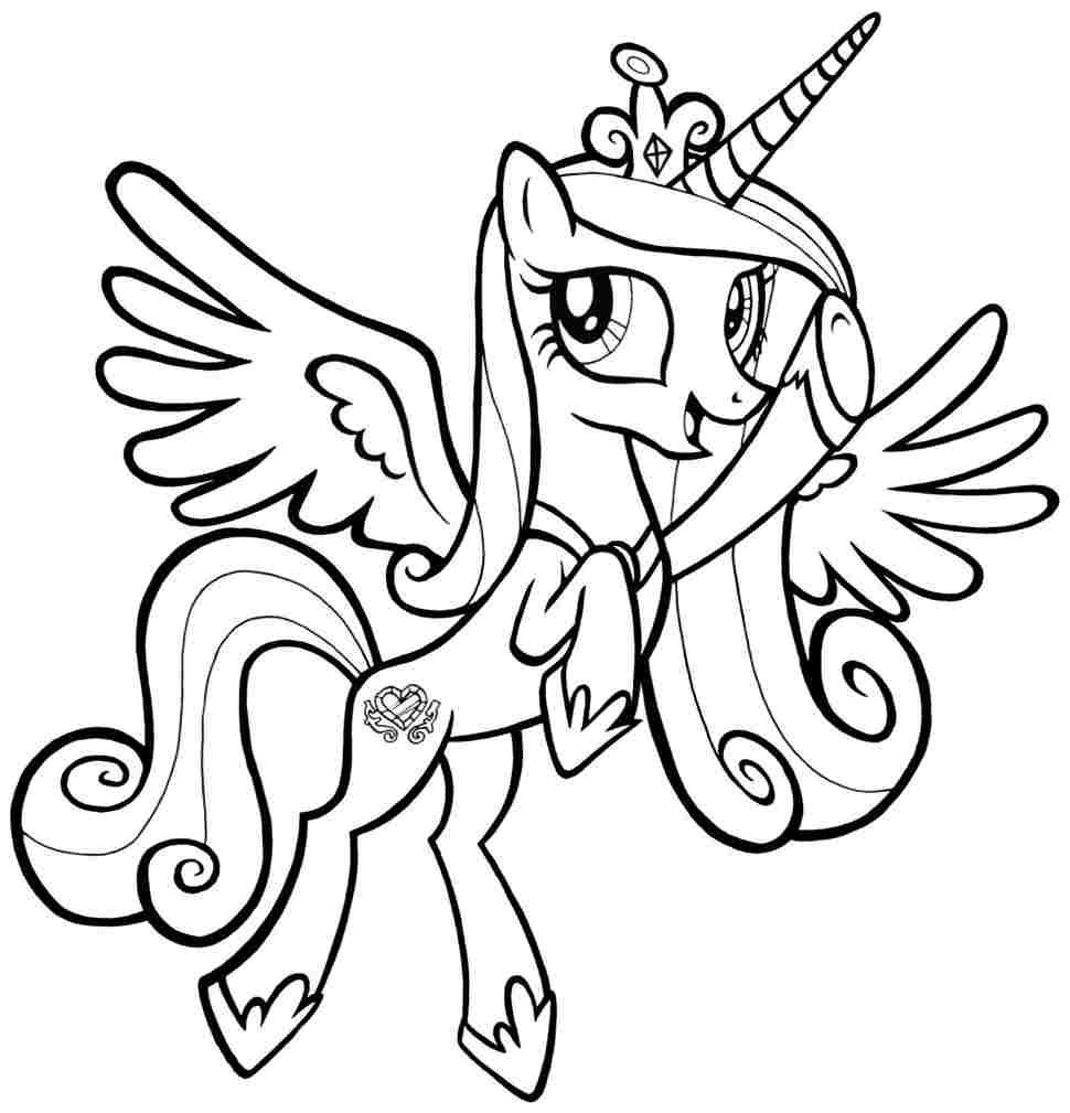 My Little Pony Princess Cadance My Little Pony Coloring My